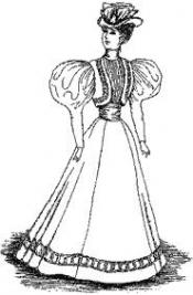 Click to enlarge image 1895 Bolero Jacket with Leg O Mutton Sleeves - Pattern 16