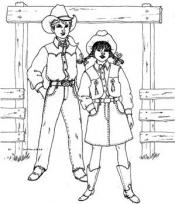 Click to enlarge image Don't Fence Me In Western Outfit - Pattern 5